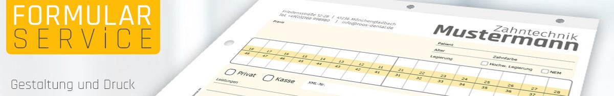 Individuelle Gestaltung und Druck von Dental-Formularen